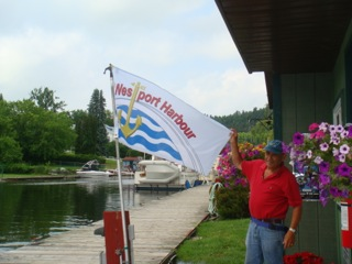 The new Westport Harbour flag.