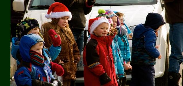 Children Patiently waiting Santas Arrival