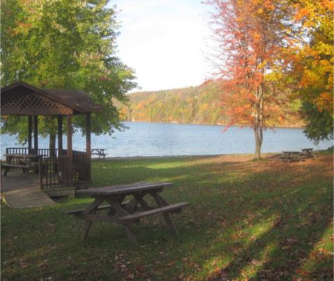Our beautiful venue, Sand Lake.