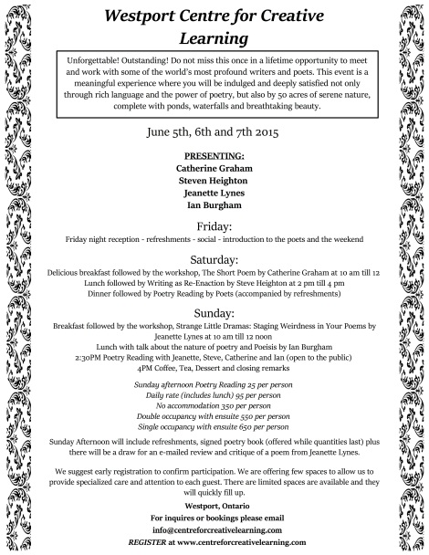 poetry weekend double sided flyer