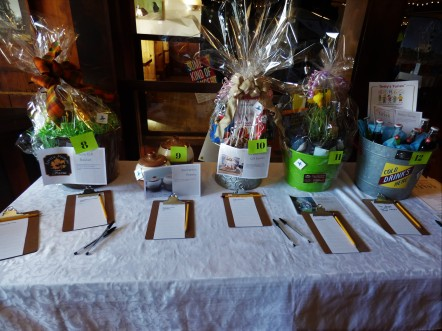 8-maple gift basket, 9-Backstairs pottery, 10-teas, 11-wildflower basket, 12, cold drinks bucket